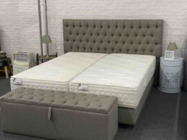 basic lux capiton set 180x200 met opbergbank showroom